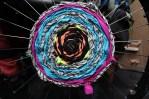 wheelchair fabric scrap weaving!!!