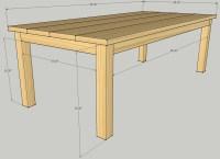 building plans patio table
