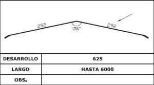 Diseño Cumbrera lisa D625