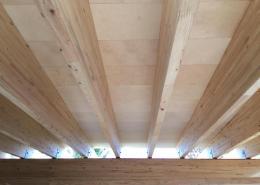 Obra con panel sandwich tablero fenolico de madera