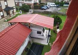 Panel sandwich cochera tejado coche tejado garaje