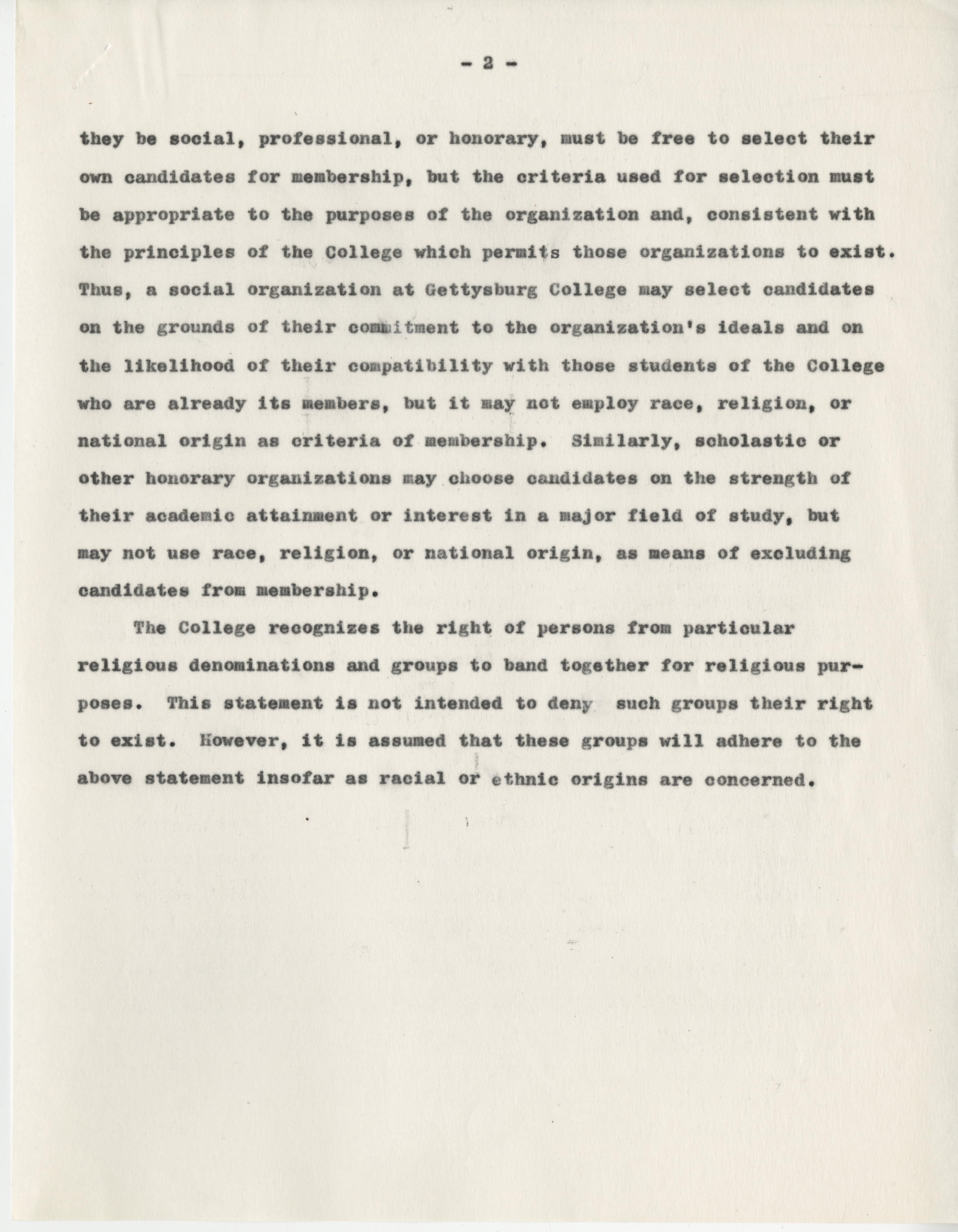 Anti Discrimination Statement