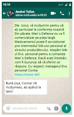 pagina oficială Men's Defence