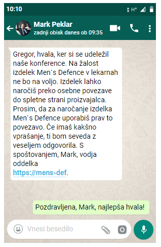 Men's defence zdravljenje prostatitisa