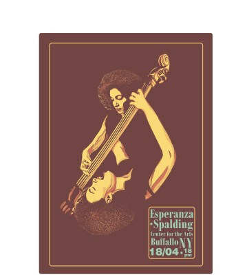 ESPERANZA SPALDING POSTER | For study purpose only (no relation with the artist)