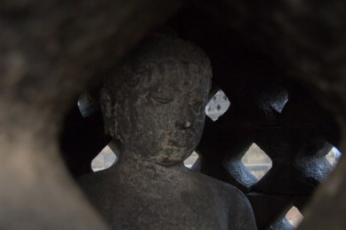 Not all of the Buddhas were intact.