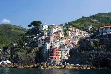 Riomaggiore as we left on the ferry.