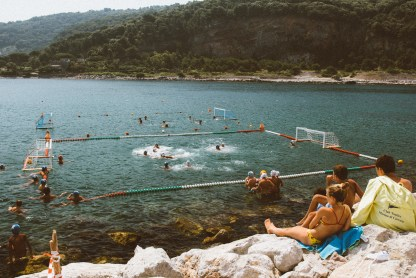 More water polo. I thought it was cool for these kids to live in a place where they could play water polo in the ocean.