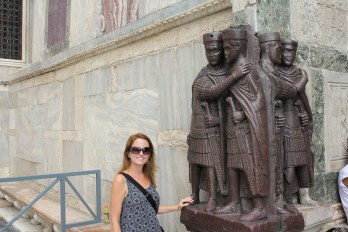 Caitlin and the tetrarchs. Nobody around seemed to realize the importance, and that they had been stolen from Constantinople but made from Egyptian Marble.