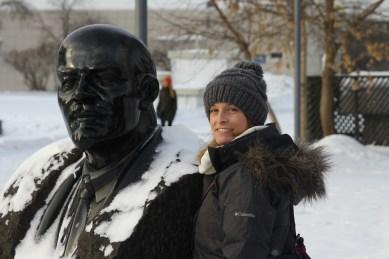 Caitlin and Lenin.