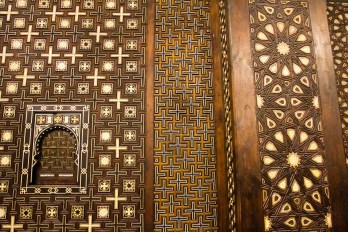 Coptic christian church, intricate inlay.