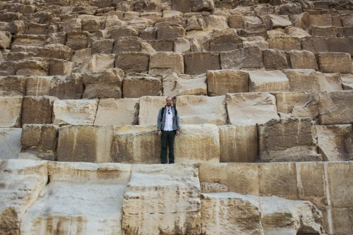 Me on the great pyramid of Giza to give you a size reference of the stone blocks.