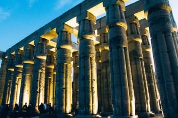 Papyrus shaped columns.