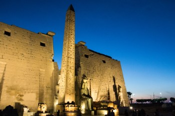 Luxor temple at night.