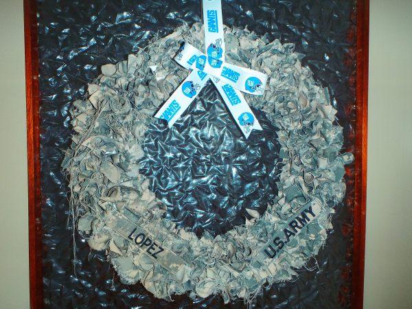 Diy Fabric Wreath Tutorial Lopez Creations