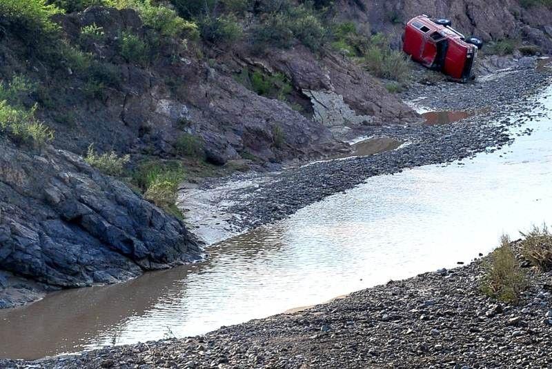 Así luce la ribera del río después de la tragedia