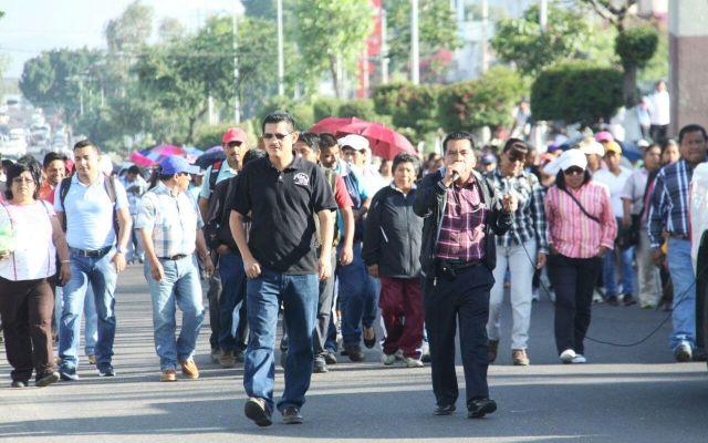 Marcha Sección 22 del SNTE en Oaxaca - Agencia Quadratín