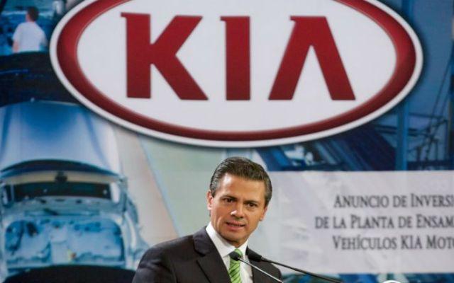 El presidente Peña Nieto anuncia planta de KIA - Foto de Presidencia de la República