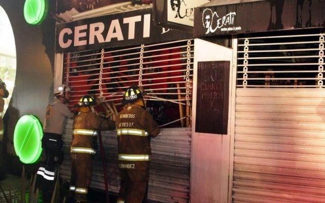 "Se incendia ""Cerati"" en la Colonia Roma - Foto de Reforma"