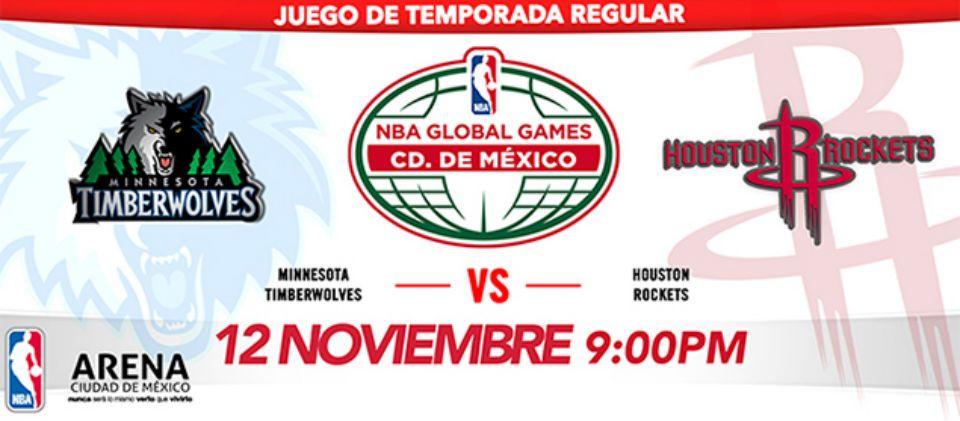 Regresa NBA a México con juego de Timberwolves y Rockets