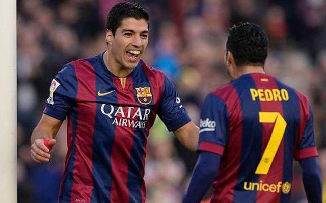 Luis Suárez marca su primer gol en liga en la goleada del Barça - Foto de BBC