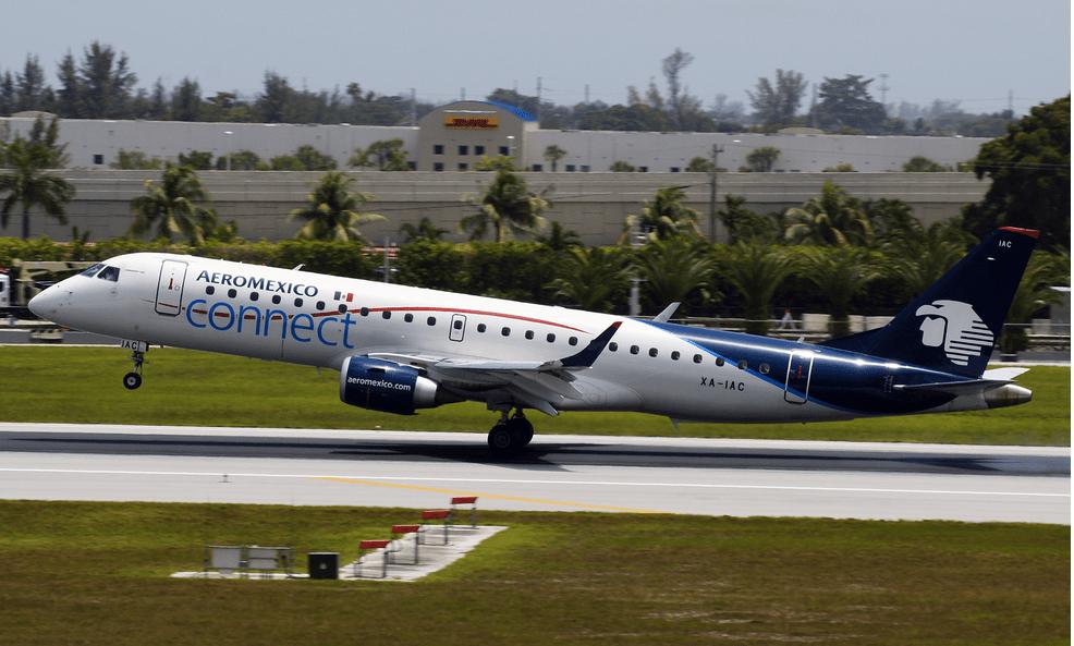 Estos son los derechos de los afectados por paro en Aeroméxico Connect - Aeroméxico Embraer 190