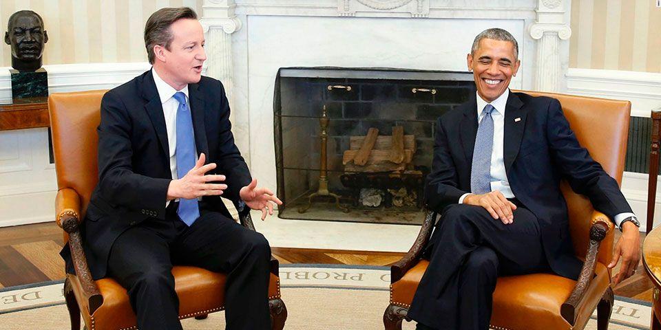 Falta integrar a la comunidad musulmana a la europea para la paz: Obama - Reunión de Barack Obama y David Cameron