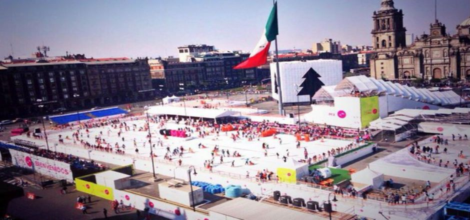Pistas de hielo del Zócalo tendrán tecnología de punta - Pista de Hielo en el Zócalo