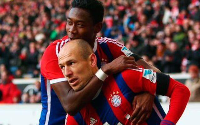 Bayern gana a base de golazos - Robben y Alaba marcaron dos golazos