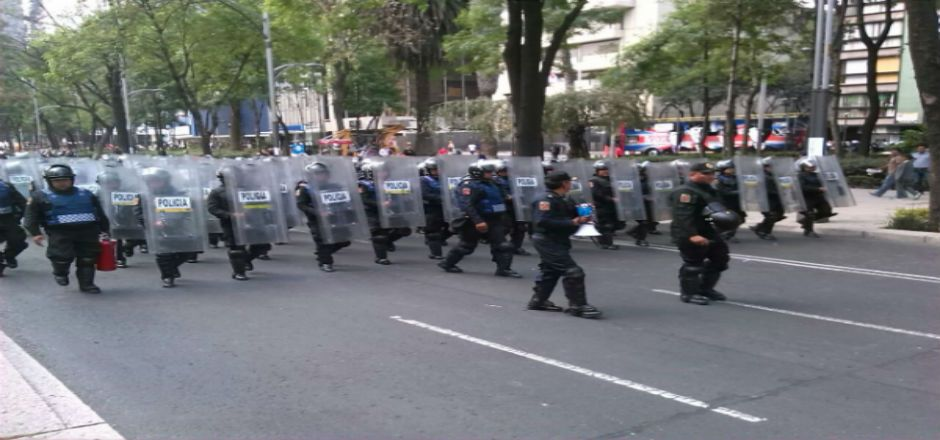 Saldo blanco durante operativo de desalojo en Reforma: Almeida - Operativo de la SSPDF en Paseo de la Reforma