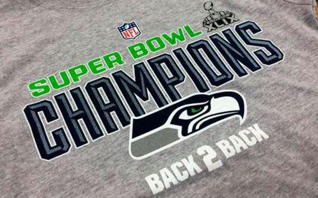 """Productos de """"Seattle Campeón"""" serán donados - Playera de los Seahawks campeones del Super Bowl"""