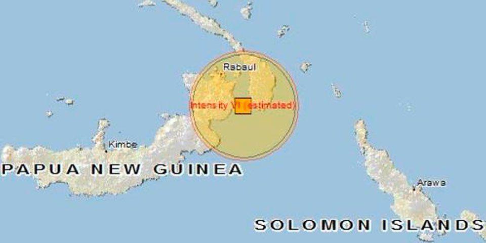 Alerta de tsunami por sismo en Papúa Nueva Guinea - Sismo Papúa Nueva Guinea