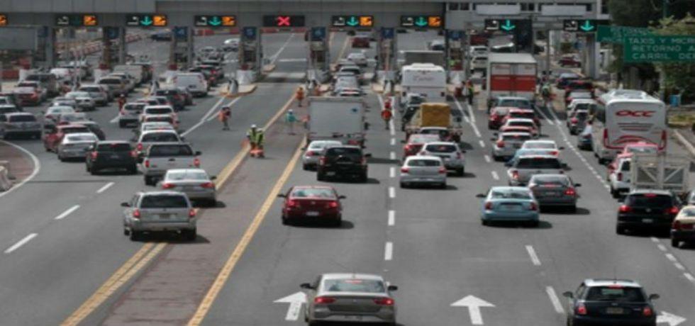 Tránsito muy lento en la México-Cuernavaca - Arribo de automovilistas al DF