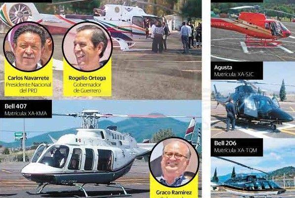 Perredistas se niegan a transparentar gastos de helicópteros - Helicóptero PRD Silvano Aureoles