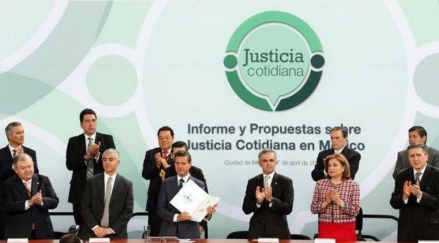 Pide EPN mejorar la justicia cotidiana de México - Foto de Presidencia