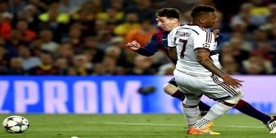 Jerome Boateng se defiende de las burlas - Jerome Boateng y Lionel Messi