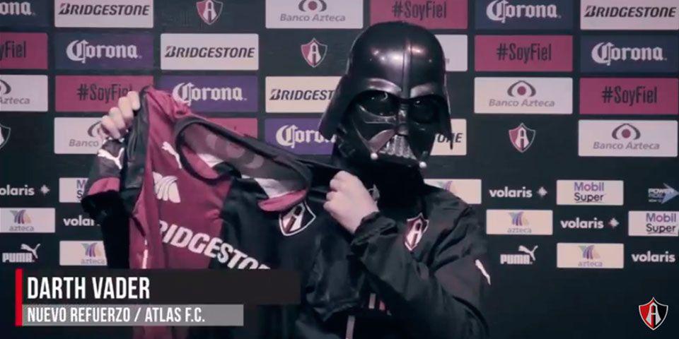 "Atlas presenta a Darth Vader como ""refuerzo"" - Atlas presenta a Darth Vader como \"