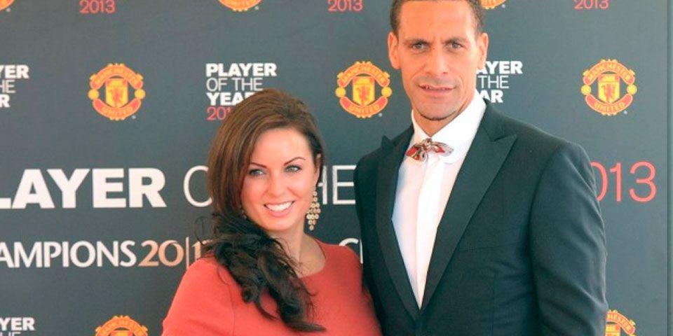 Muere esposa de Rio Ferdinand - Rio Ferdinand y su esposa Rebecca Ellison