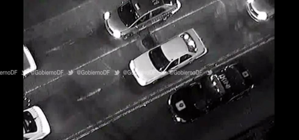 Video: persecución por robo de vehículo en la Cuauhtémoc