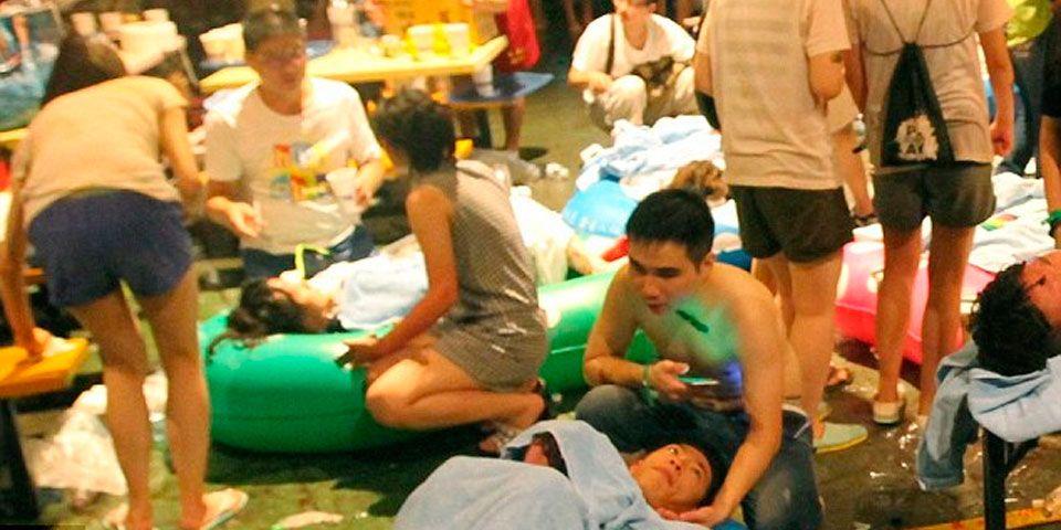 Ya son más de 500 heridos por incendio en Taiwan - Foto de EPA
