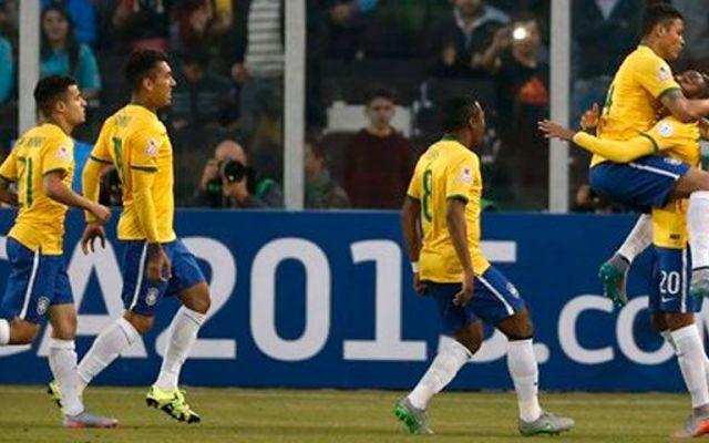 Brasil derrota y elimina a Venezuela - Aún sin Neymar, Brasil es favorito en su cruce de cuartos. Foto de AP