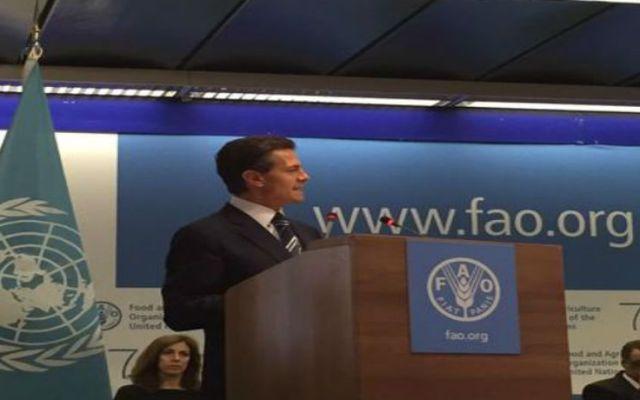 Es posible combatir la pobreza en el mundo: EPN - Foto de @Fco_Guzman