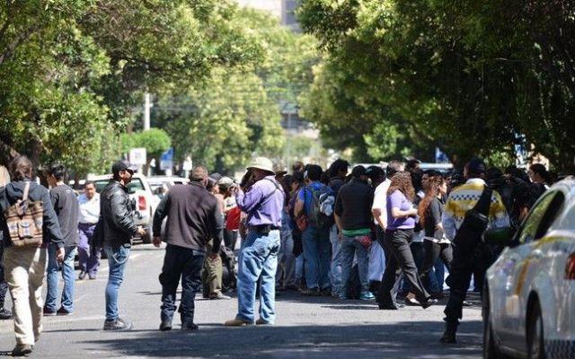 Manifestantes obstruyen calles de Polanco - Foto de @pasotti_
