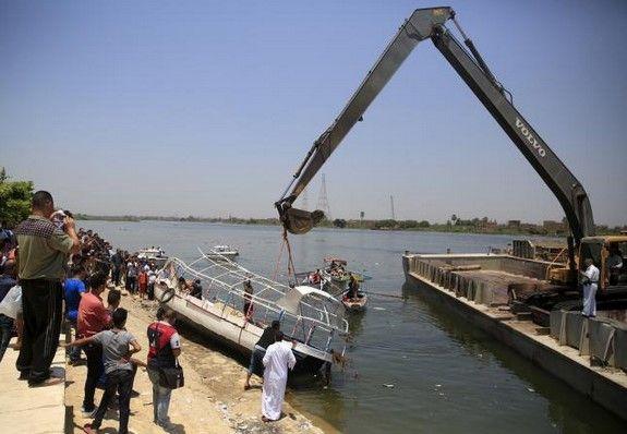 Aumentan a 31 los muertos por choque de barcos en el Nilo - Foto de AFP