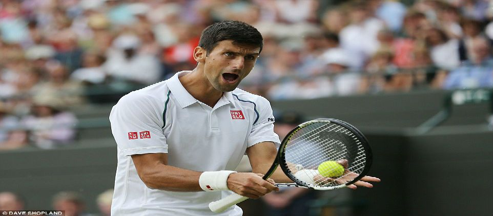 Djokovic grita a adolescente en Wimbledon - Foto de Daily Mail Online