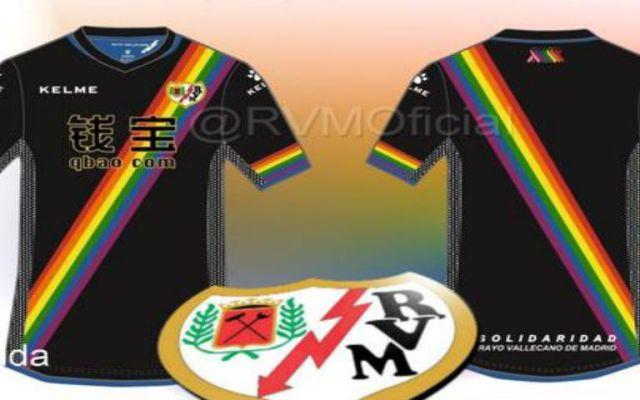El Rayo Vallecano usará playera en apoyo de la comunidad LGBT - Foto de @RVMOficial