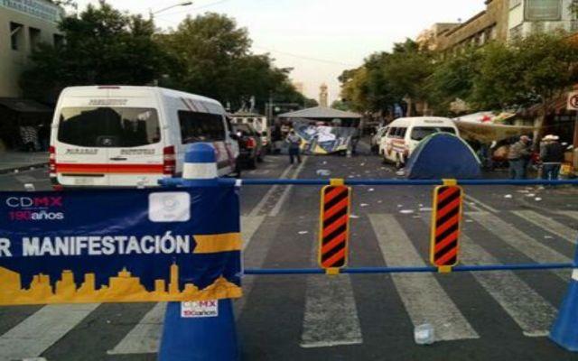 Bucareli ya fue ocupada nuevamente - Foto de Milenio.