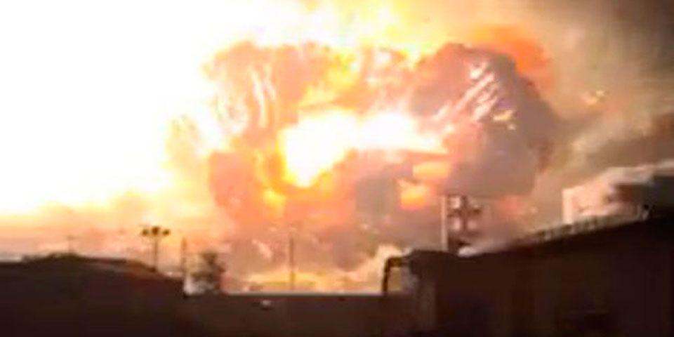 Video: explosión cerca de planta química en China - Foto de Daily Mirror