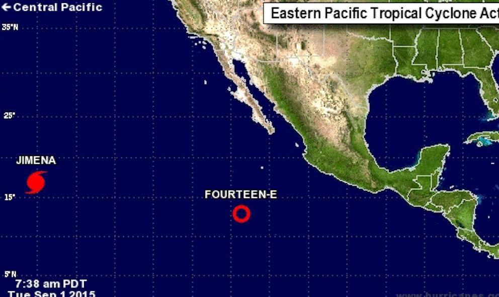 Nace tormenta tropical Kevin al suroeste de Baja California Sur