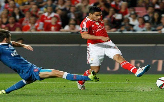 Raúl Jiménez juega en goleada del Benfica - Foto de Facebook